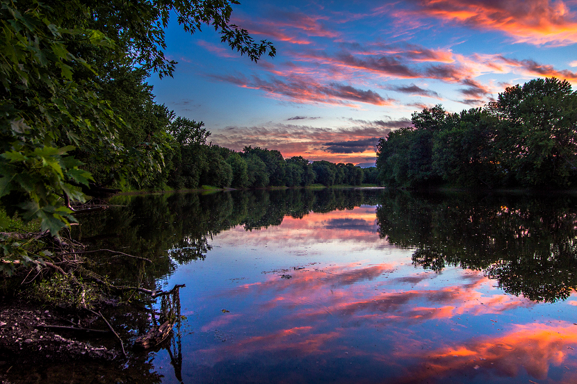 Summer Sunset on the Wallkill River by John Morzen