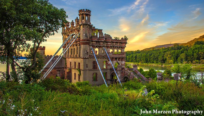 Bannerman Castle at Sunset, by John Morzen Photography.