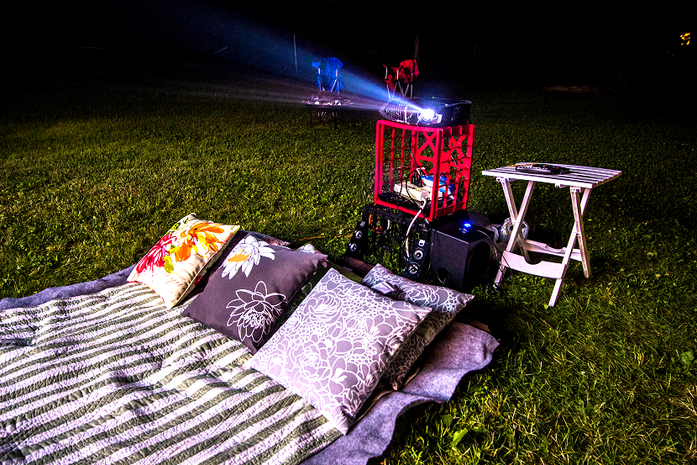 Creating an Outdoor Movie Theater