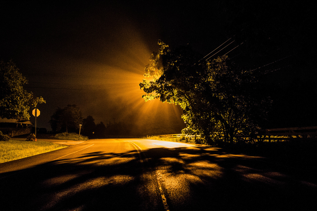 Street Light, Late Night, Wappingers, by John Morzen