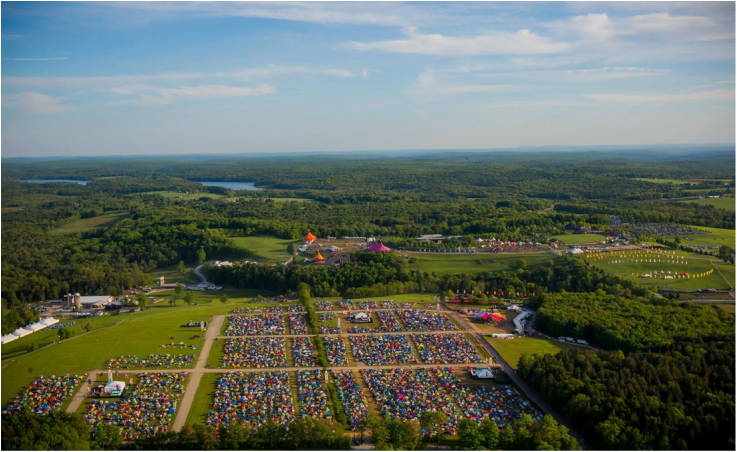Mysteryland USA Aerial View.