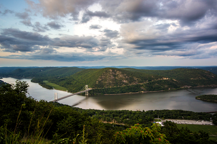 View of the Hudson River from Bear Mountain State Park, by John Morzen.