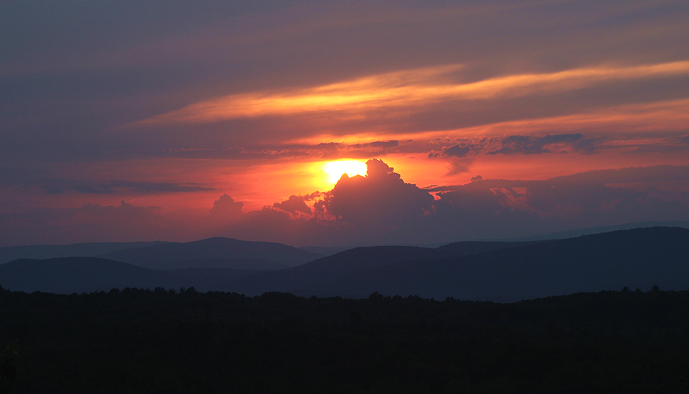 Sunset Over the Rondout Valley and Catskill Mountains, by John Morzen