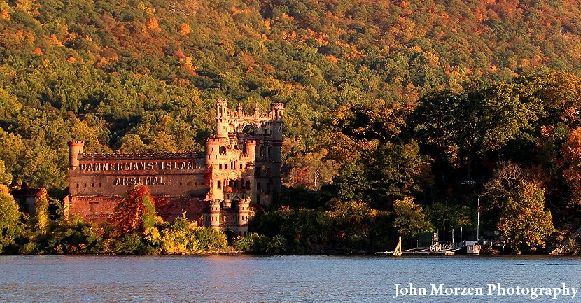 Bannerman Castle in Autumn by John Morzen
