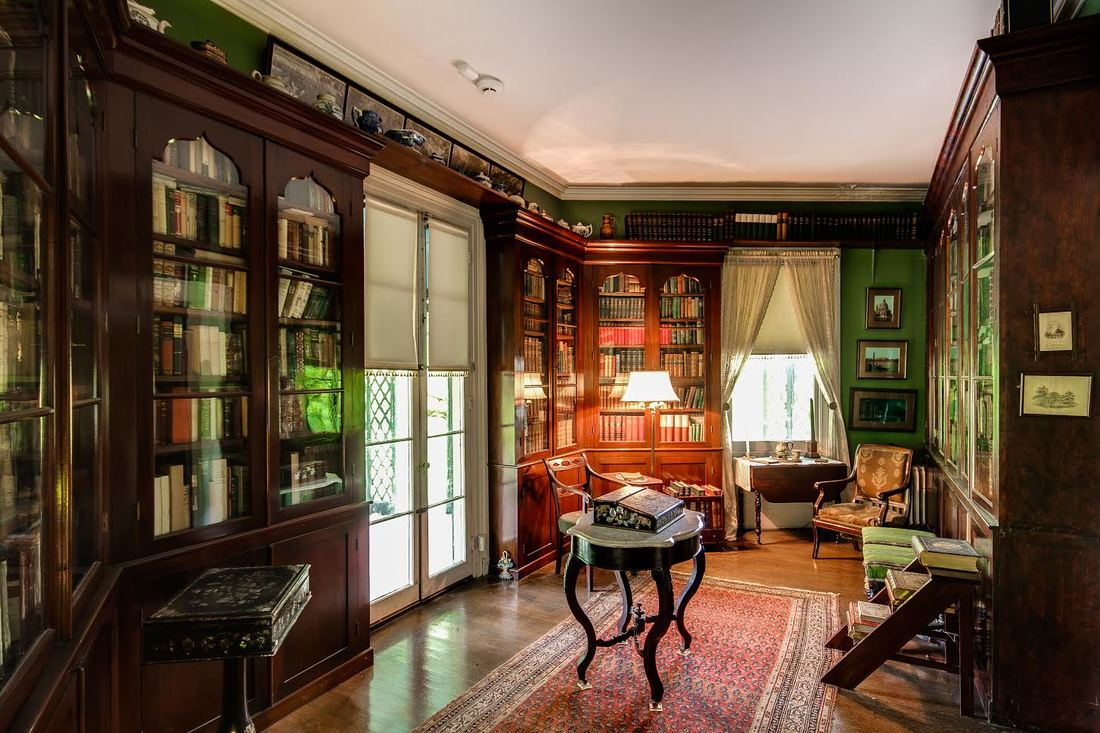 Inside the library of the Locust Grove Estate, in Poughkeepsie, New York.